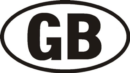 GB Sticker White UK Europe Euro Car Bike Van Adhesive Vinyl Weatherproof